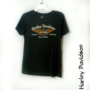 Harley Davidson L black short sleeve Washington